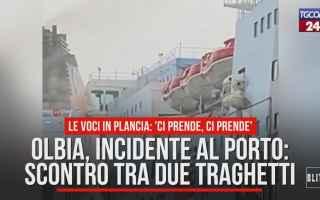 Cagliari: olbia  video  incidente  traghetti  vento