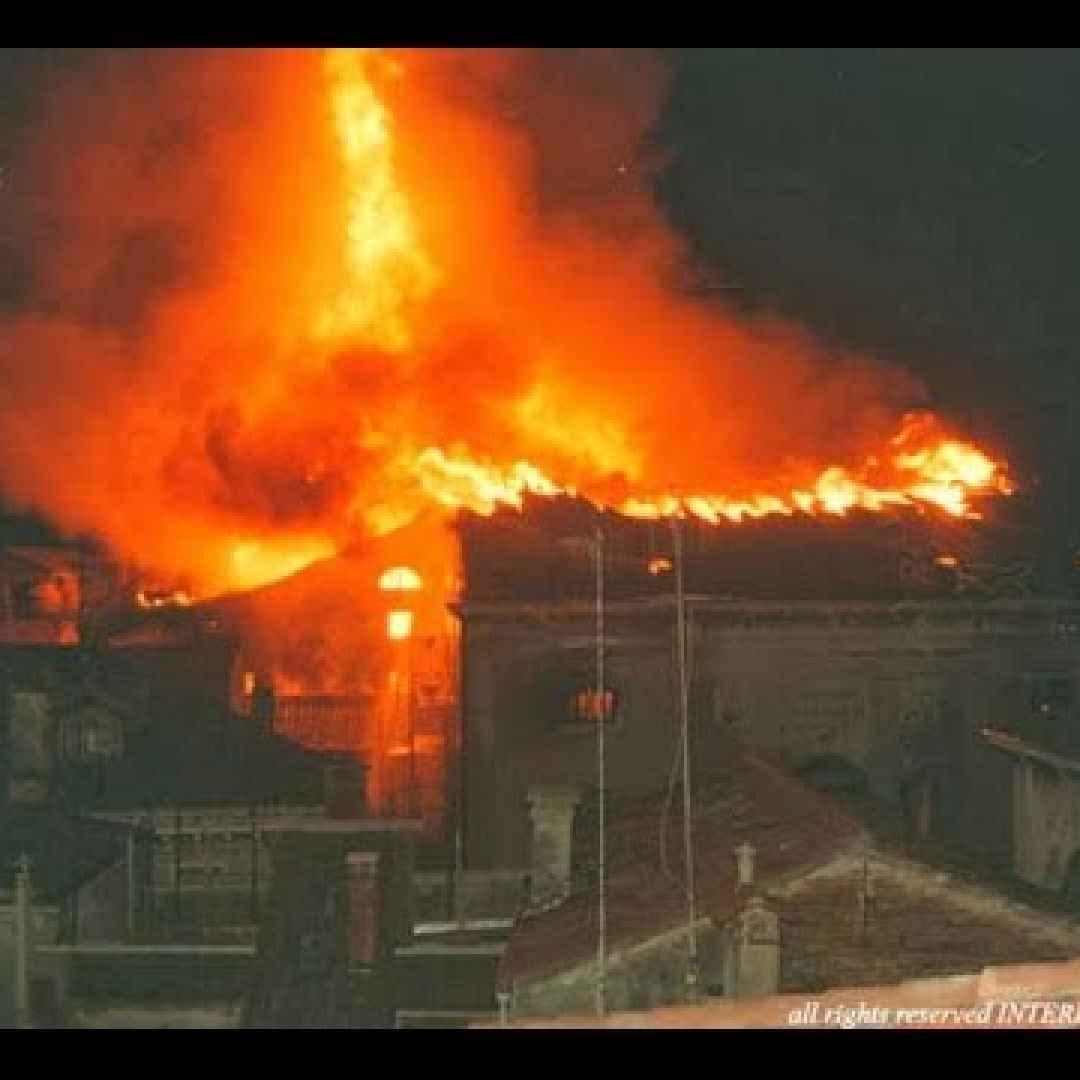 venezia video incendio documentario