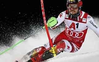 Sport Invernali: SCI ALPINO:SLALOM SPECIALE SCHLADMING: HIRSCHER DOMINA