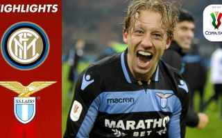 Coppa Italia: inter lazio video gol calcio