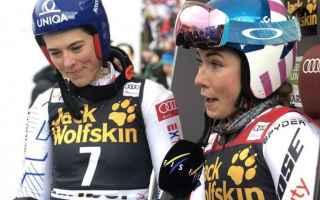 Sport Invernali: SCI ALPINO: MARIBOR: SHIFFRIN E VLHOVA VINCONO IL GIGANTE