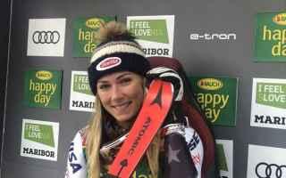 Sport Invernali: SCI ALPINO: SLALOM FEMMINILE MARIBOR: DOPPIETTA DELLA SHIFFRIN