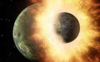 Astronomia: theia  atmosfera  collisione  luna