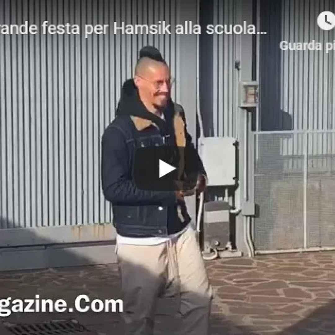 video festa hamsik calcio napoli