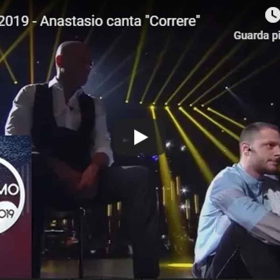 "Sanremo 2019 - Anastasio canta ""Correre"" - VIDEO"