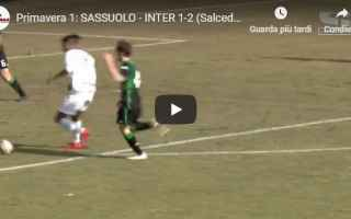 Serie minori: sassuolo inter video gol calcio