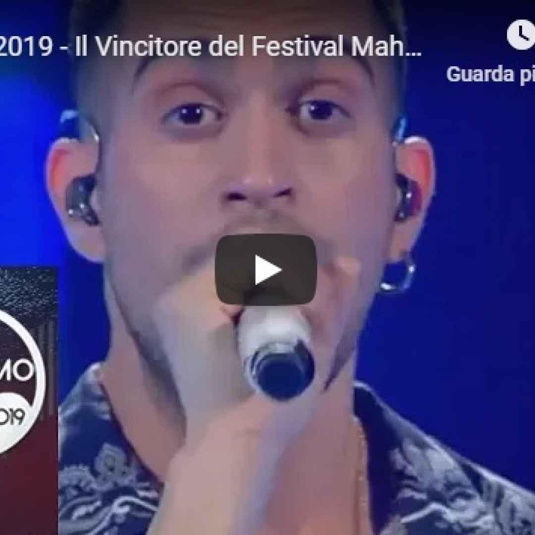 """Sanremo 2019 - Il Vincitore del Festival Mahmood canta """"Soldi"""" - VIDEO"""