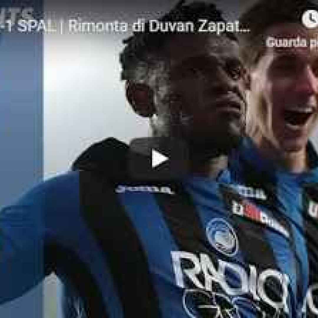 atalanta spal video calcio gol