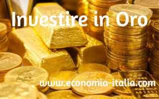 oro  investire  investimenti