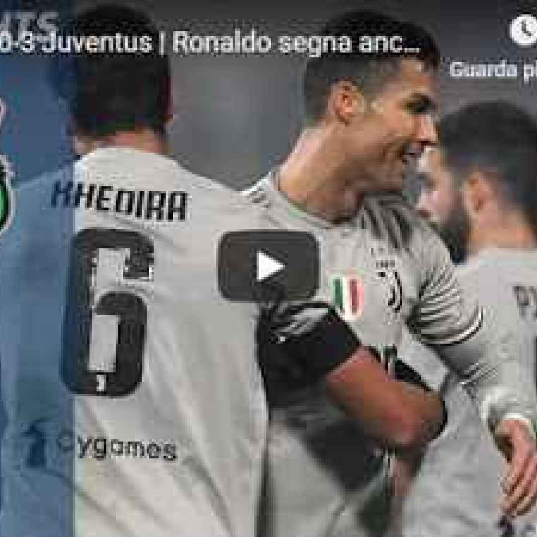 sassuolo juventus video gol calcio