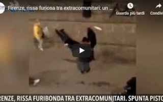 video shock rissa firenze ferito