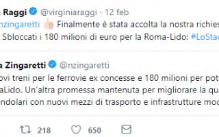 Twitter: roma-lido  trasporto pubblico  raggi