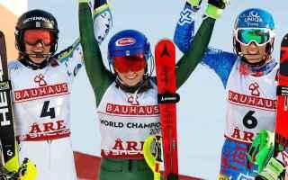 Mikaela Shiffrin dopo la delusione del gigante, ed essersi classificata al terzo posto questa mattin