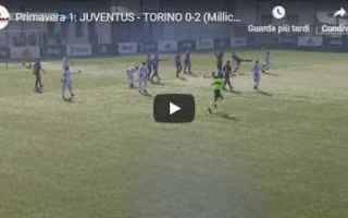 Serie minori: torino juventus video gol calcio