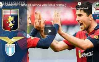 Serie A: genoa lazio video gol calcio