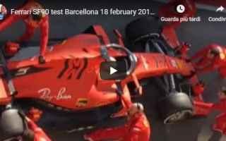 Formula 1: ferrari sf90 test barcellona - video
