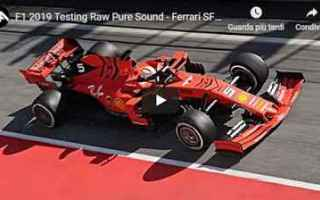 Formula 1: ferrari barcellona test motori video