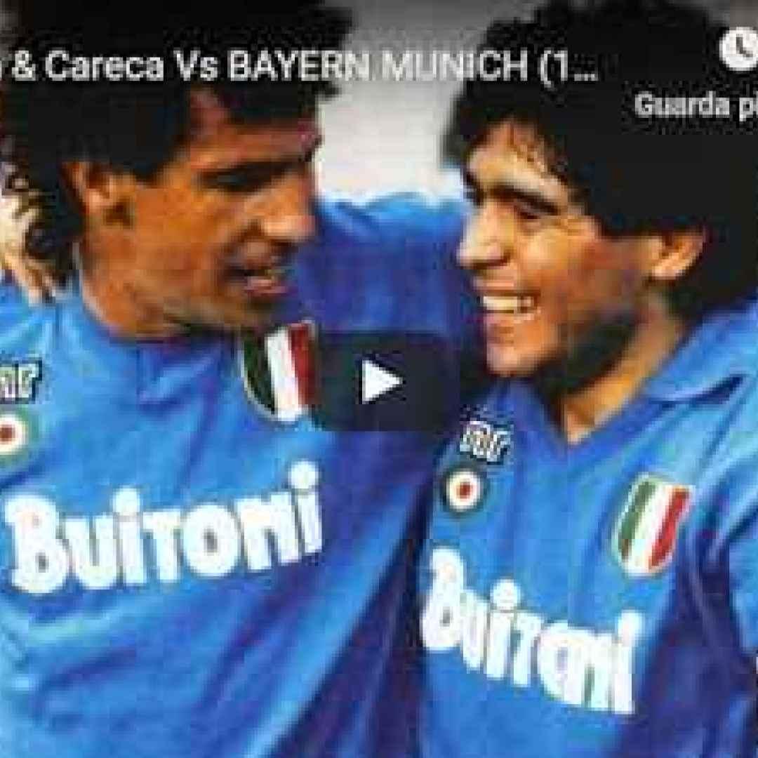 maradona  careca  napoli  video  gol  calcio