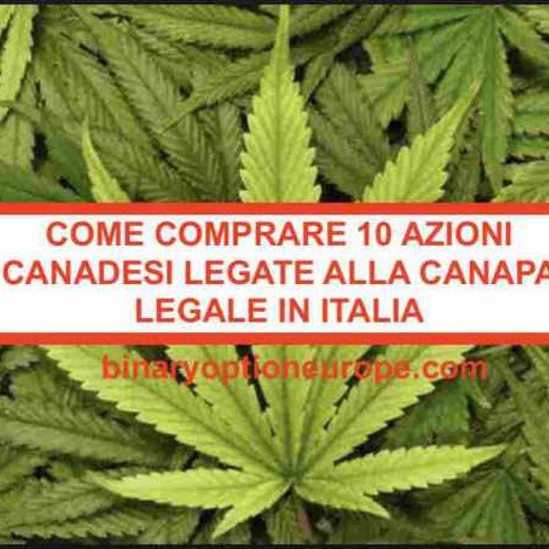 azioni canadesi  canapa  cannabis legale
