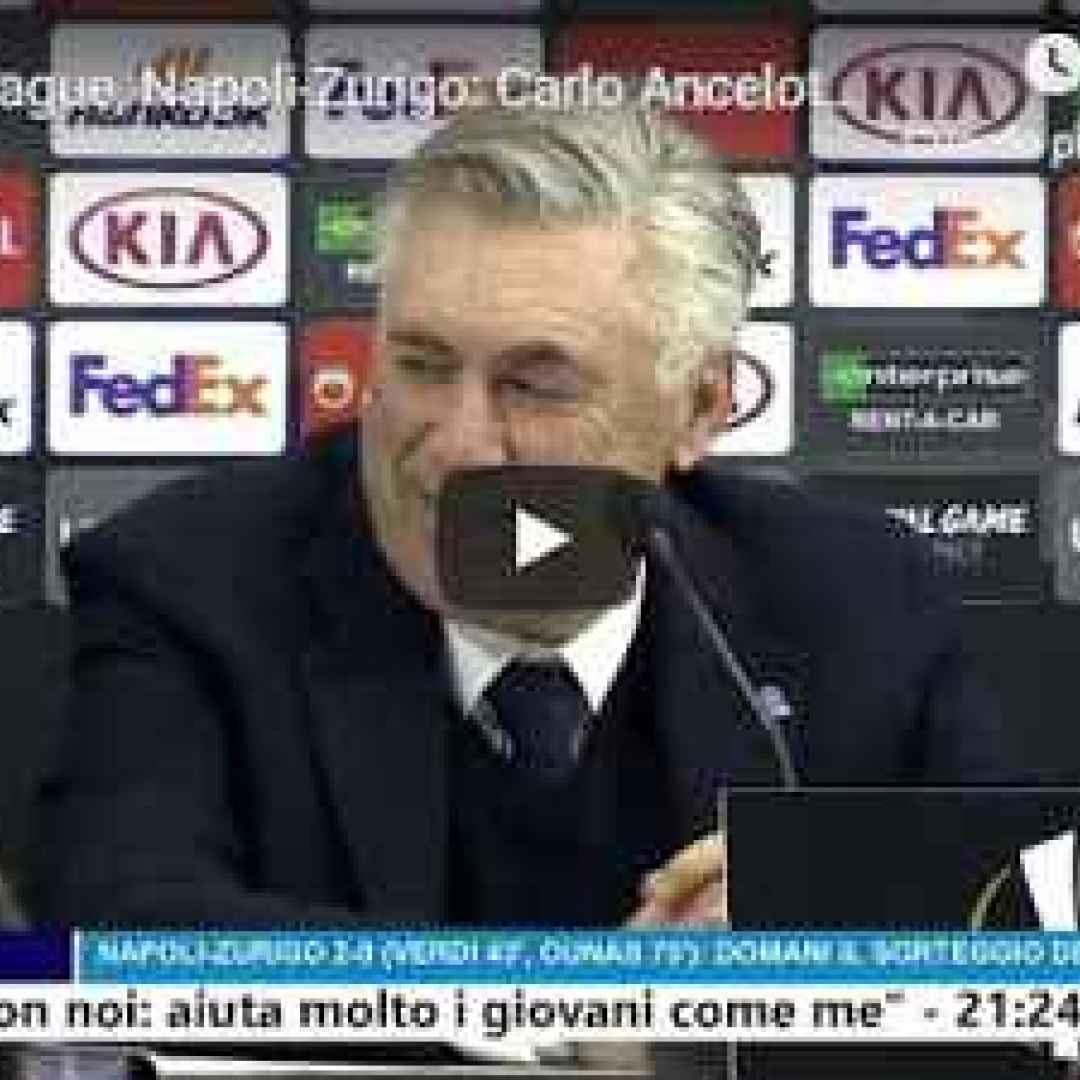 napoli video intervista ancelotti calcio