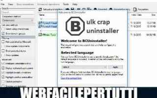 Software: bulk crap uninstaller