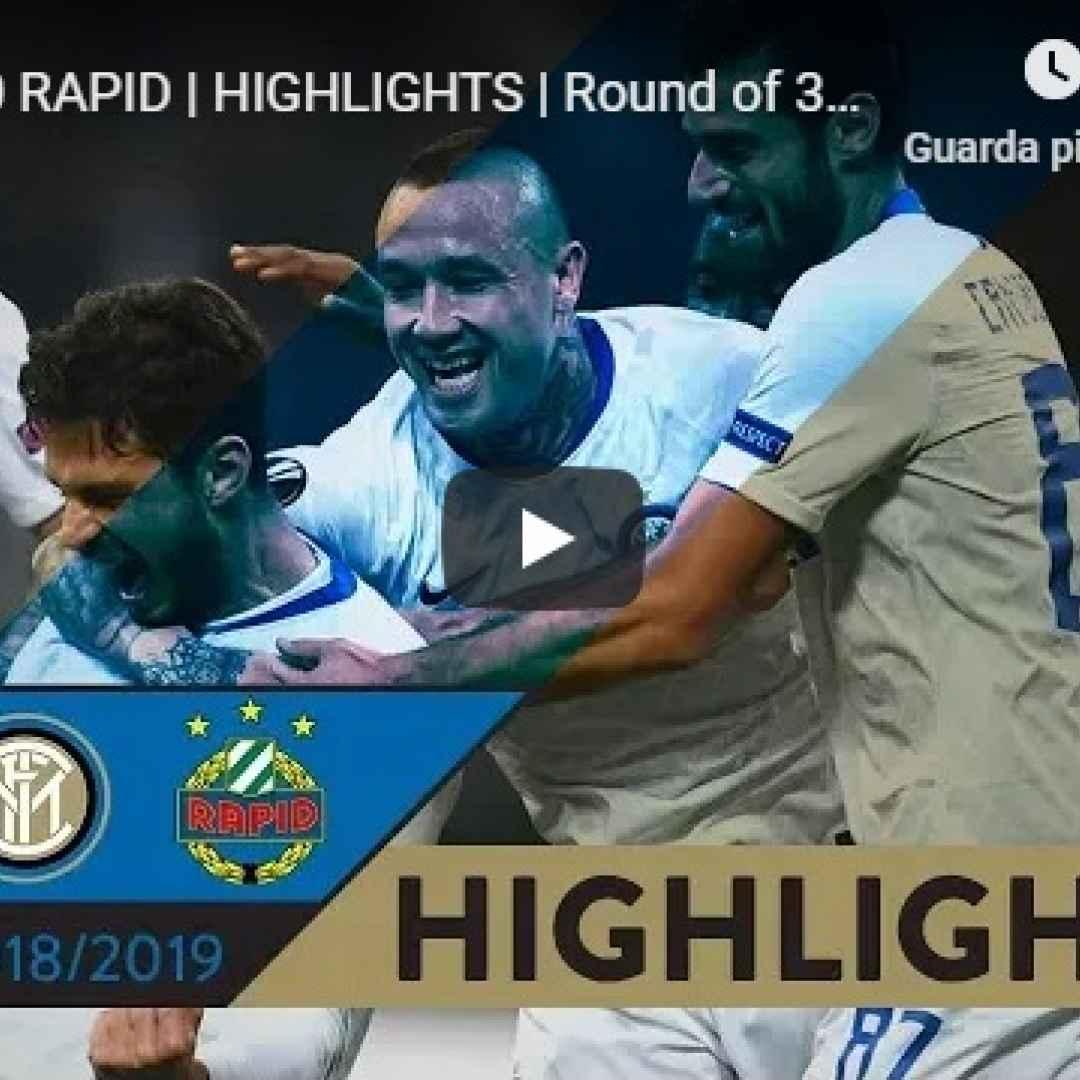 inter rapid vienna video gol calcio