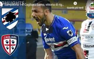 Serie A: sampdoria cagliari video gol calcio