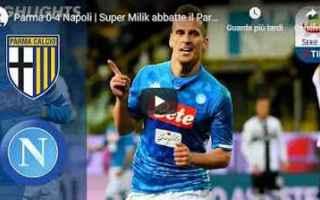 Serie A: parma napoli video gol calcio