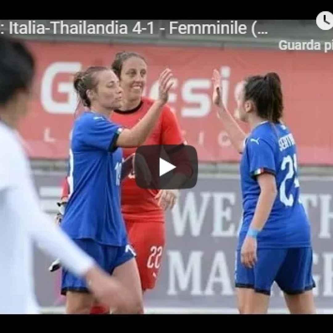 italia thailandia video gol calcio