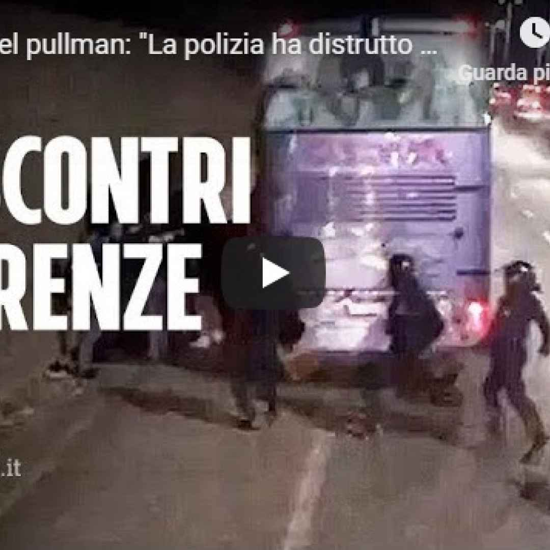 firenze video tifosi atalanta polizia