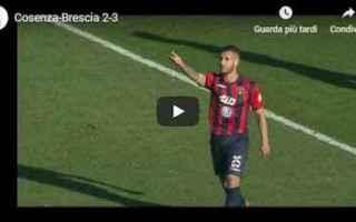 Serie B: cosenza brescia video gol calcio