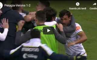 Serie B: perugia verona video gol calcio