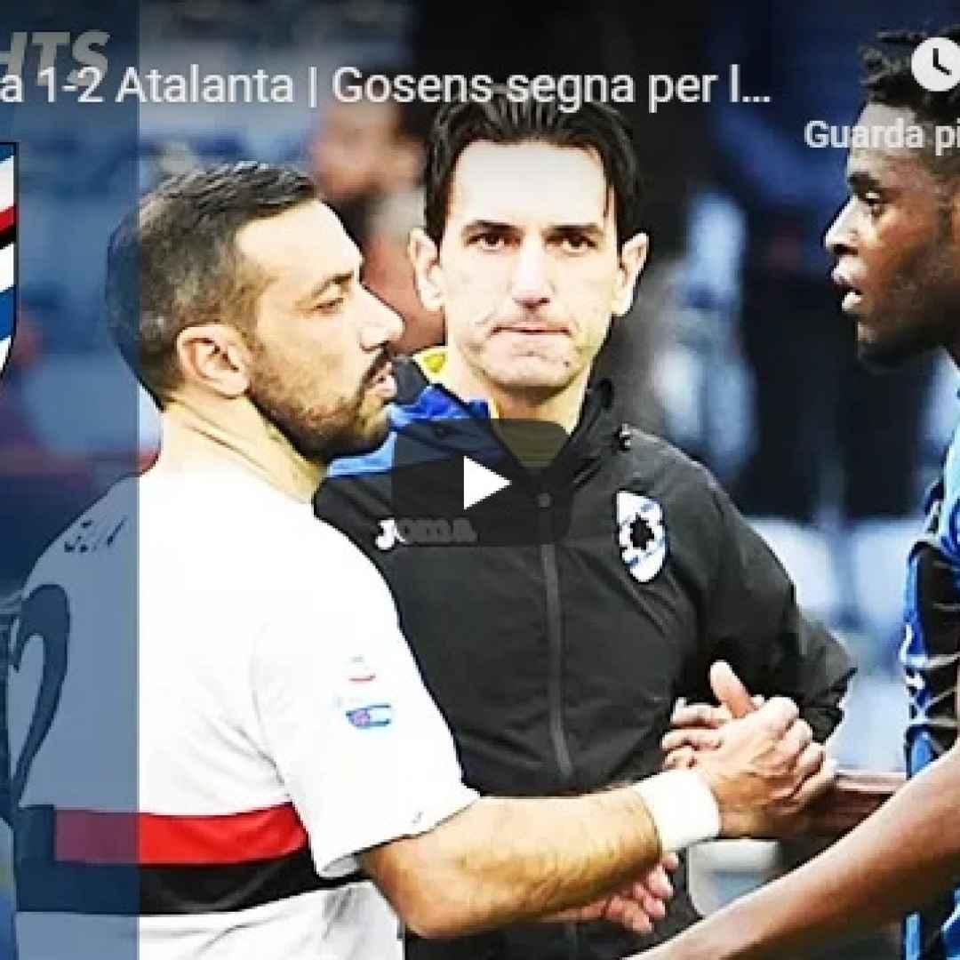 sampdoria atalanta video gol calcio
