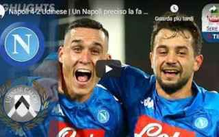 Serie A: napoli udinese video calcio gol