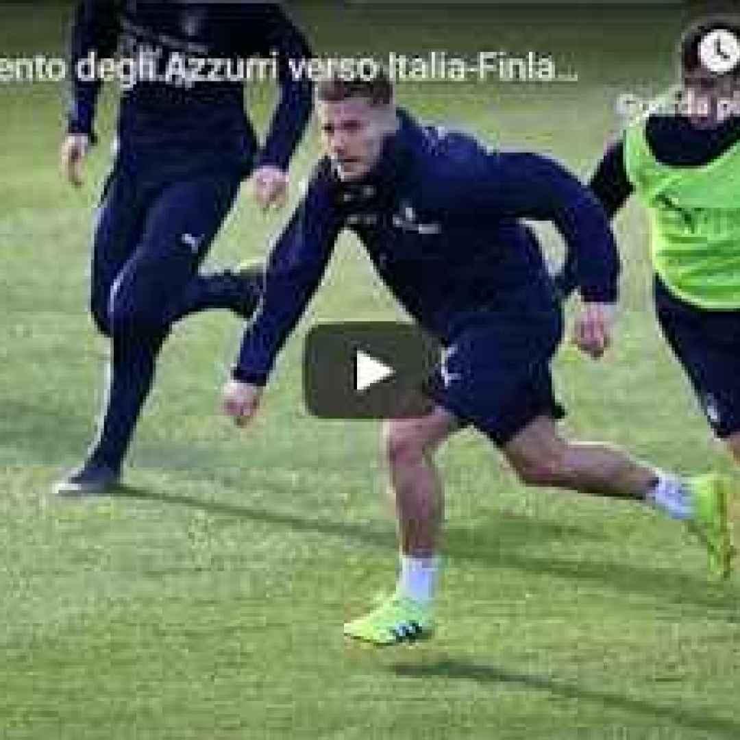 video azzurri italia calcio allenamento