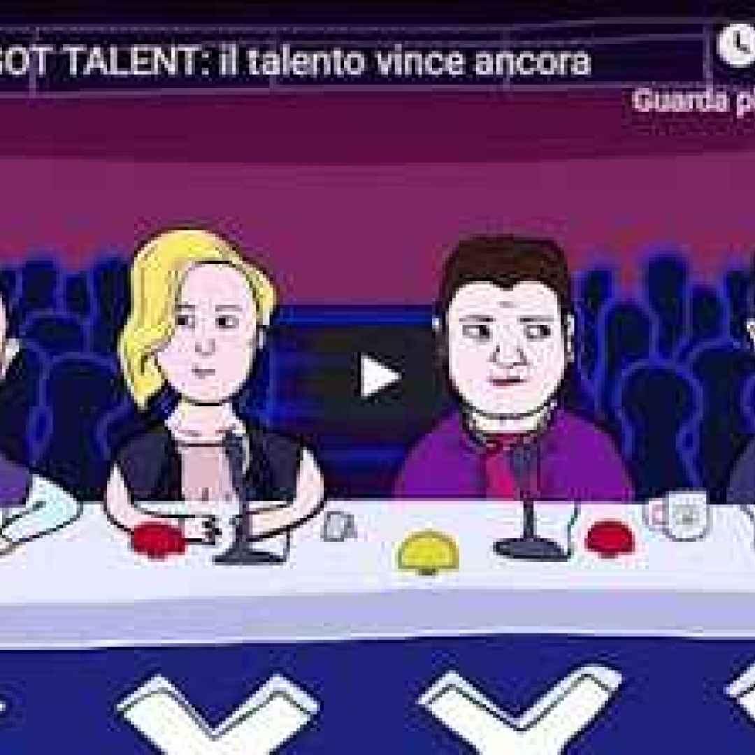 video tv cartoni ridere talent show