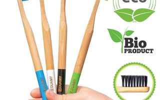 Salute: spazzolino  denti  ecologico  bamboo