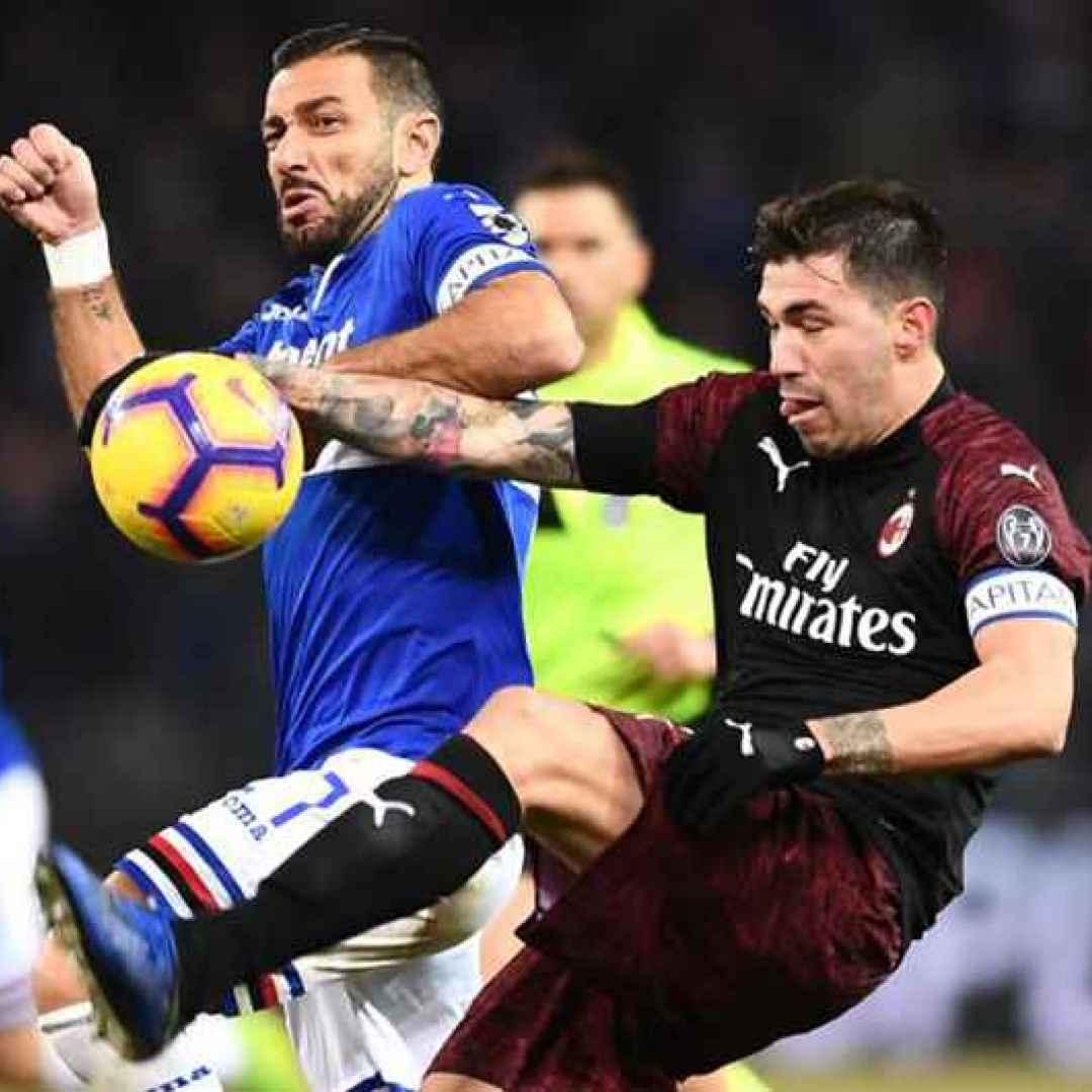 Tutto su Sampdoria-Milan: probabili formazioni orario e dove