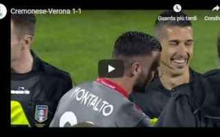 Serie B: cremonese verona video gol calcio