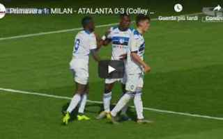 Serie minori: milan atalanta video gol calcio