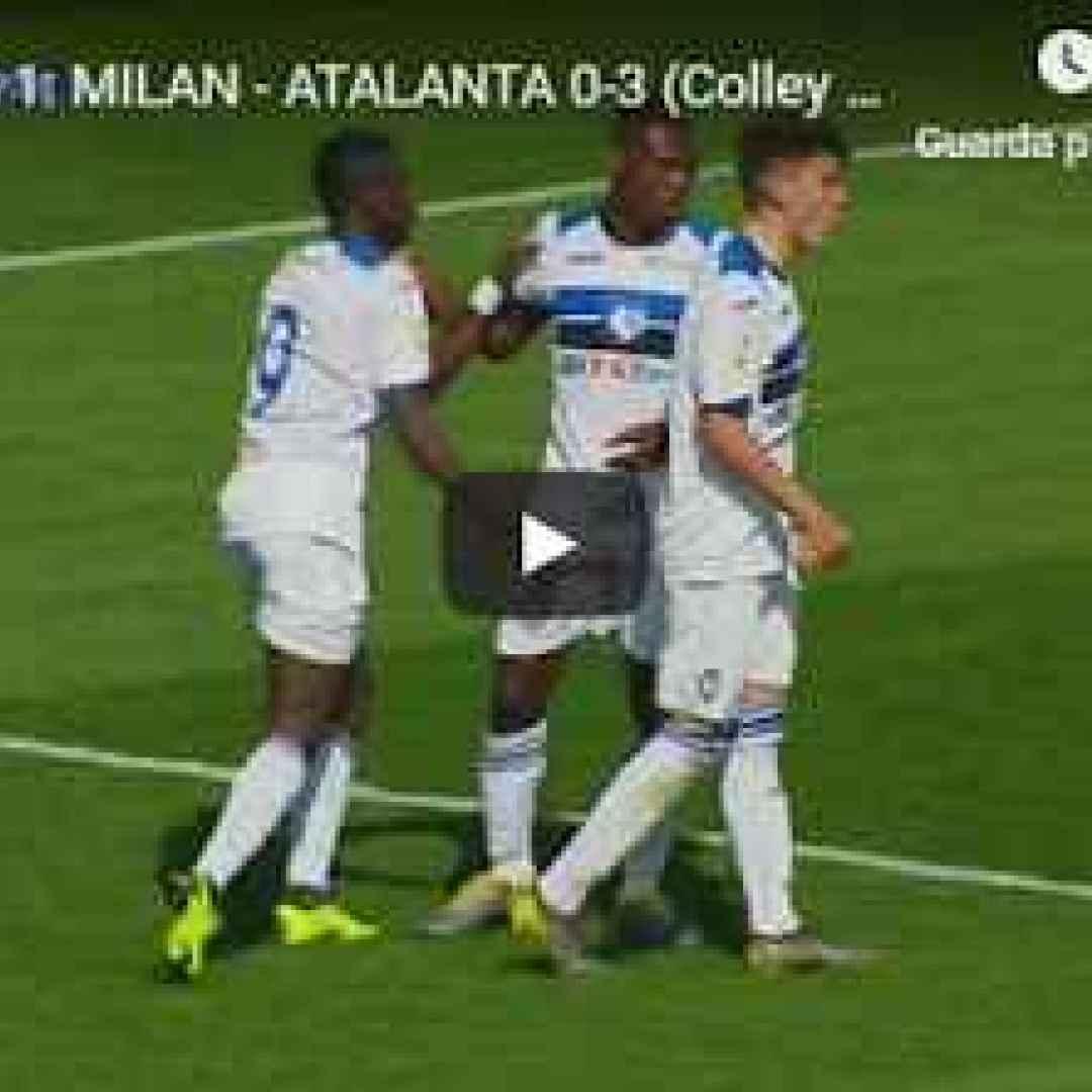 milan atalanta video gol calcio