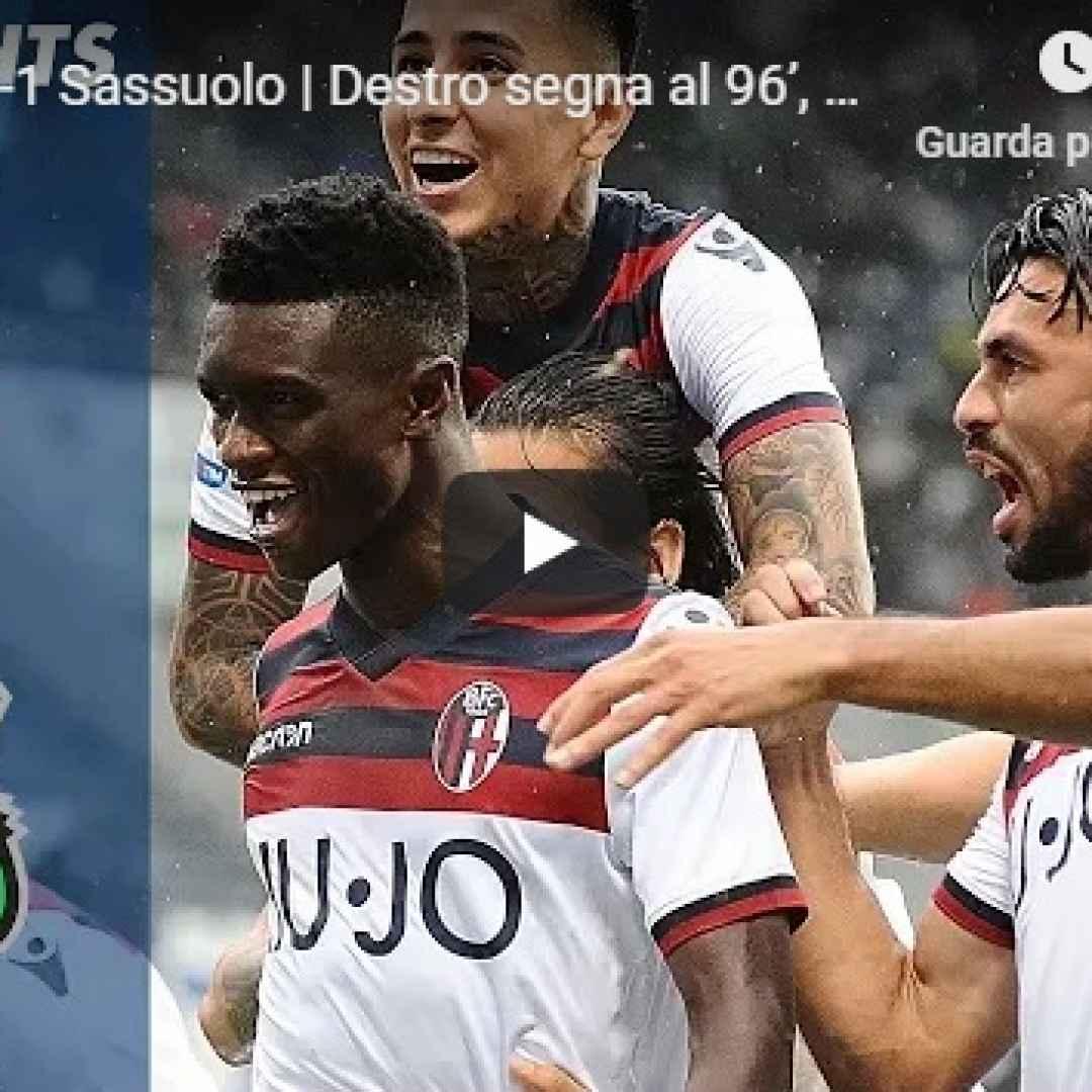 bologna sassuolo video gol calcio