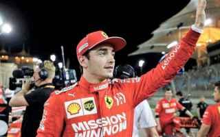 formula 1  pole position  leclerc