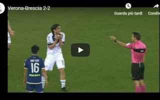 Serie B: verona brescia video gol calcio