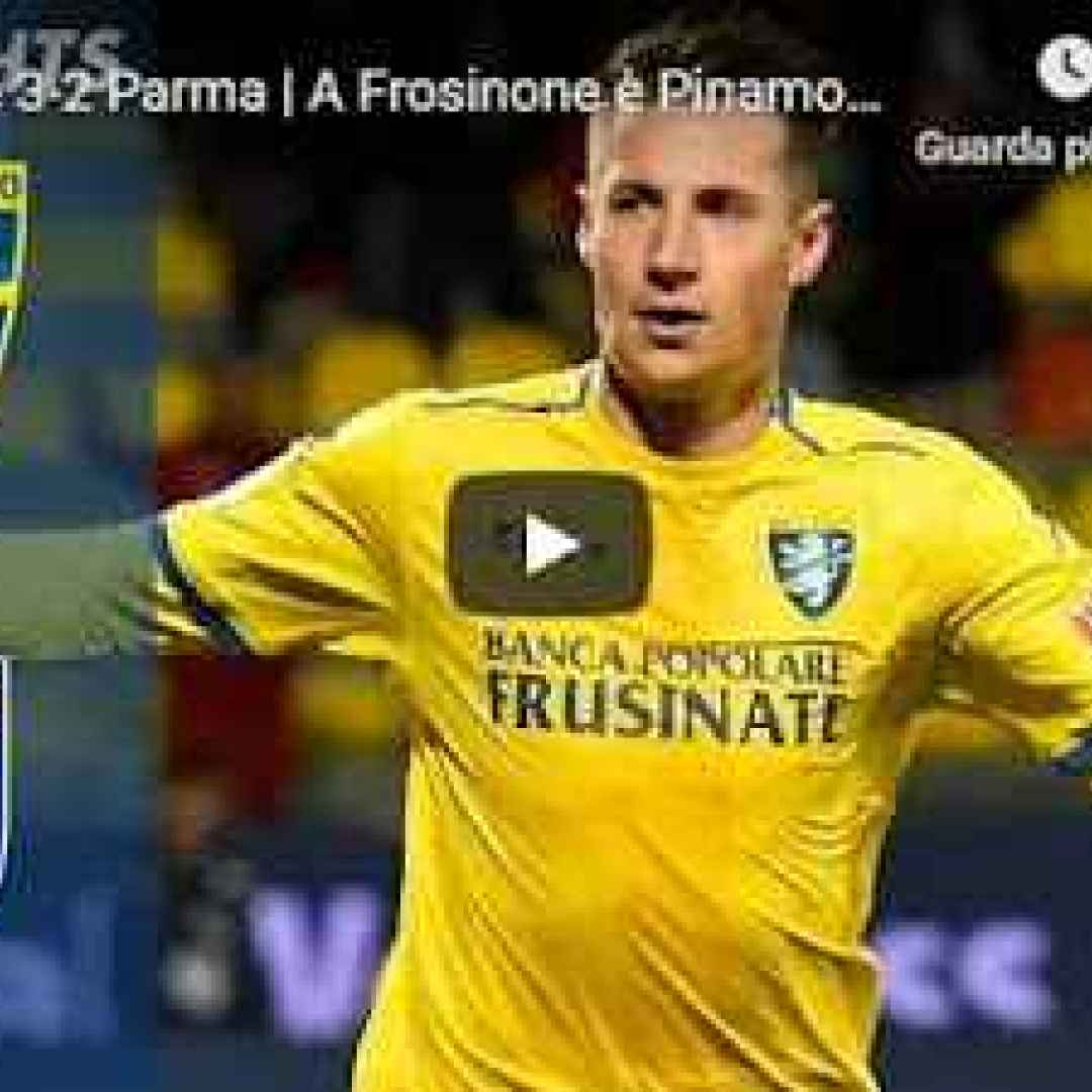 frosinone parma video calcio gol