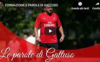 Serie A: milan video gattuso calcio pellegatti