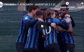 Serie minori: atalanta juventus video calcio gol