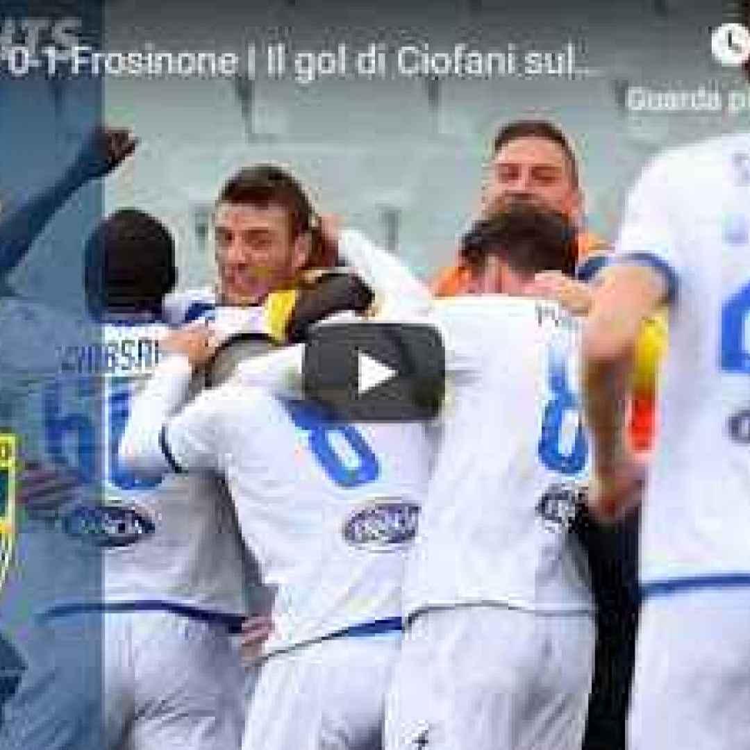 fiorentina frosinone video gol calcio
