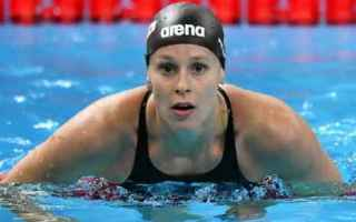 Sport: federica pellegrini  nuoto  pellegrini