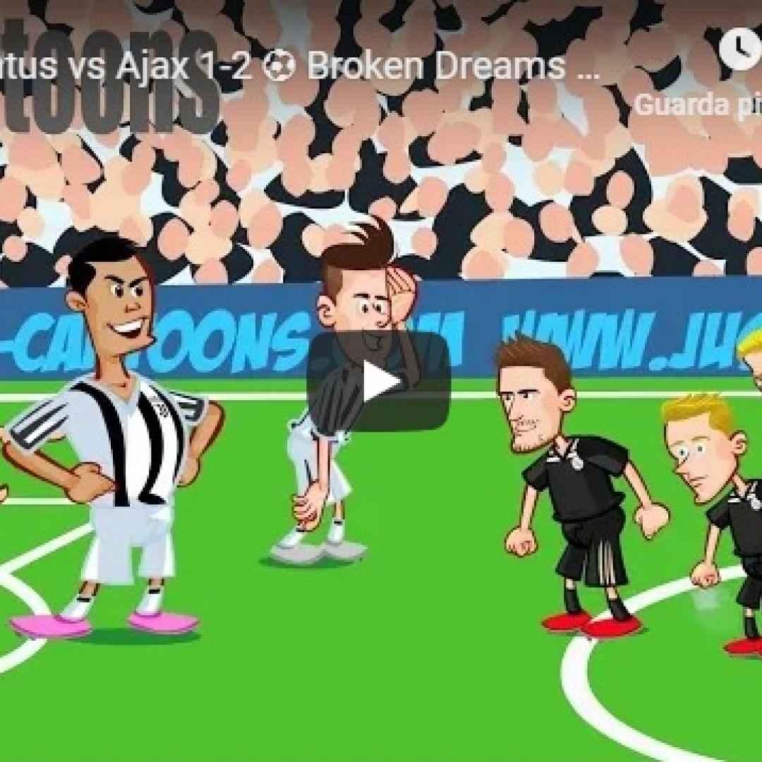 juventus ajax video calcio champions
